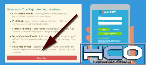 How to Use Netedy Chat - Step 2 Click on Chato Tani