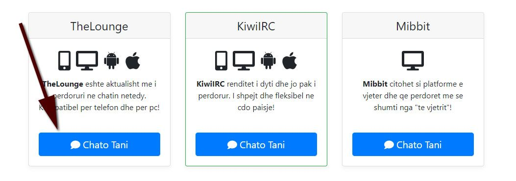 How to Use Netedy Chat - Step 3 Select TheLounge