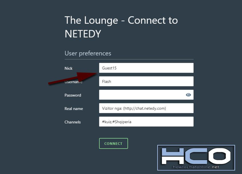 How to Use Netedy Chat - Step 4 Select a Nick
