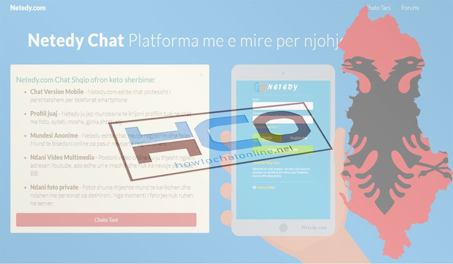 Netedy Chat is an online chat room which is based on Albania.