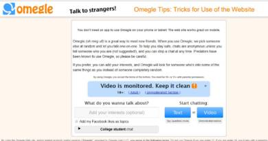 Omegle Tips Tricks for Use of the Website