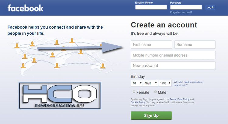 Create New Facebook Account