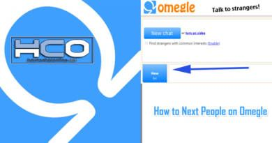 How to Next People on Omegle
