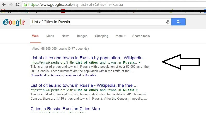 list of cities in russian