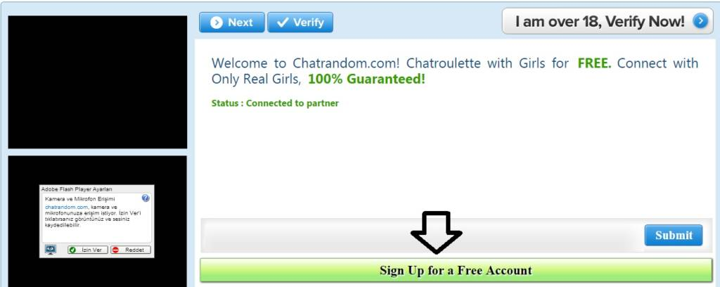 how to register chatrandom to chat with girls