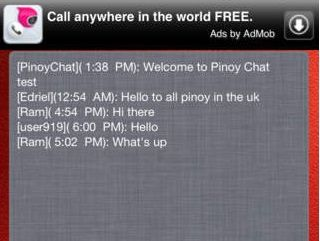 pinoychat for iphone