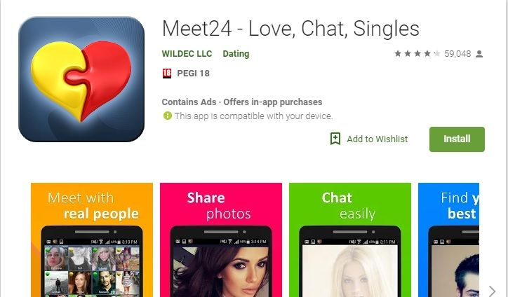 Meet24 App Review For Android | How to Chat Online