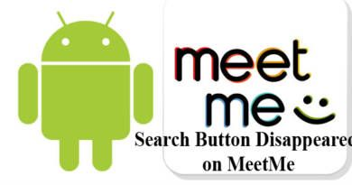 Search Button Disappeared on MeetMe App at Android