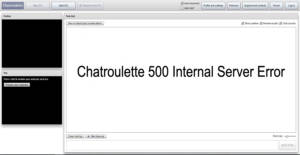 Chatroulette 500 Internal Server Error