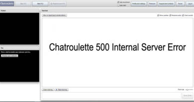 Chatroulette 500 Internal Server Error