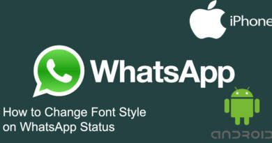How to Change Font Style on WhatsApp Status