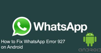 How to Fix WhatsApp Error 927 on Android