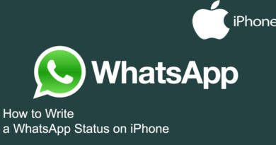 How to Write a WhatsApp Status on iPhone