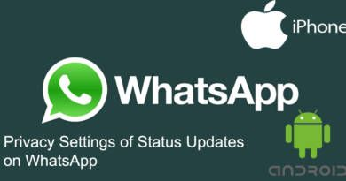Privacy Settings of Status Updates on WhatsApp
