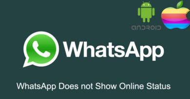 WhatsApp Does not Show Online Status
