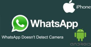 WhatsApp Doesn't Detect Camera | How to Chat Online