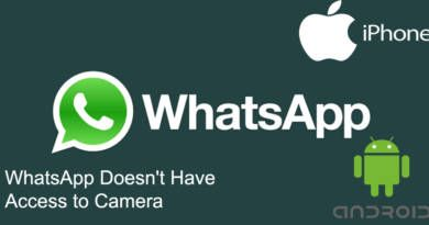 WhatsApp Doesnt Have Access to Camera