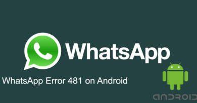 WhatsApp Error 481 on Android