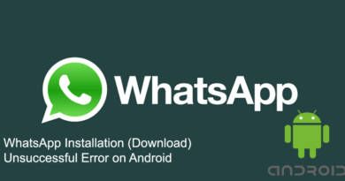 WhatsApp Installation Download Unsuccessful Error on Android