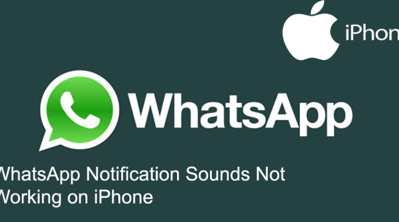 WhatsApp Notification Sounds Not Working on iPhone