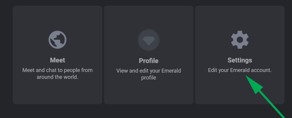 Emerald Chat Register - Settings