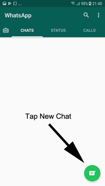 whatsapp how to send message to myself