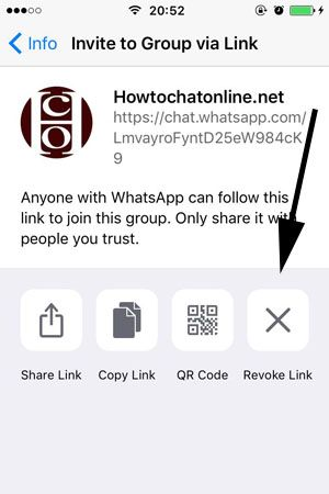 How to Change Invitation Link of a WhatsApp Group on iPhone | How to