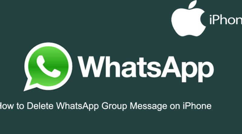 How to Delete WhatsApp Group Message on iPhone