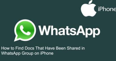 How to Find Docs That Have Been Shared in WhatsApp Group on iPhone