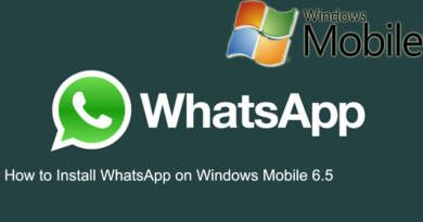 How to Install WhatsApp on Windows Mobile 6.5