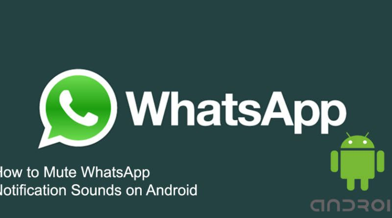 How to Mute WhatsApp Notification Sounds on Android 1