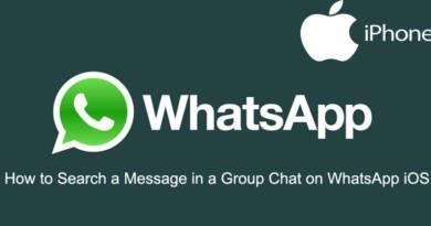 How to Search a Message in a Group Chat on WhatsApp iOS