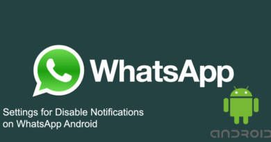 Settings for Disable Notifications on WhatsApp Android 1