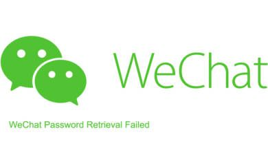 WeChat Password Retrieval Failed