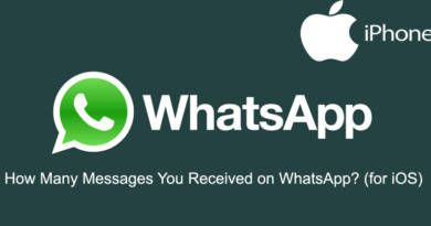 How Many Messages You Received on WhatsApp iOS