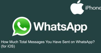How Much Total Messages You Have Sent on WhatsApp for iOS