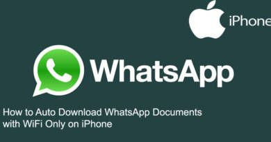 How to Auto Download WhatsApp Documents with WiFi Only on iPhone
