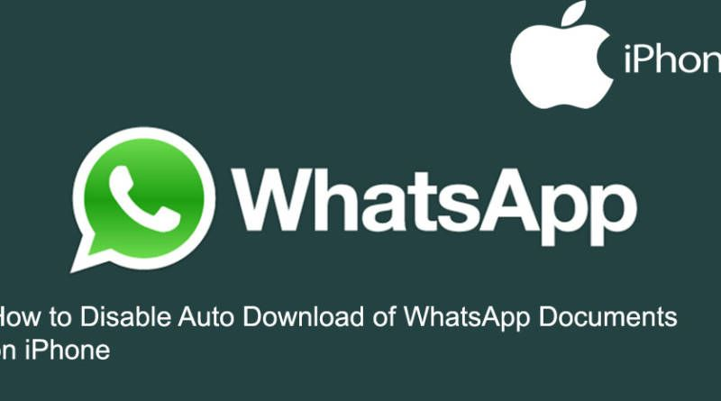 How to Disable Auto Download of WhatsApp Documents on iPhone