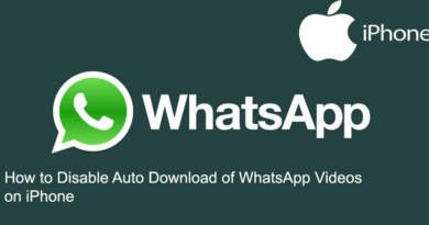 How to Disable Auto Download of WhatsApp Videos on iPhone
