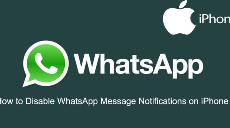 How to Disable WhatsApp Message Notifications on iPhone