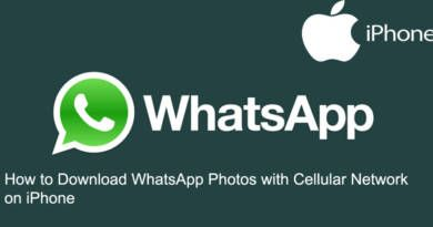 How to Download WhatsApp Photos with Cellular Network on iPhone