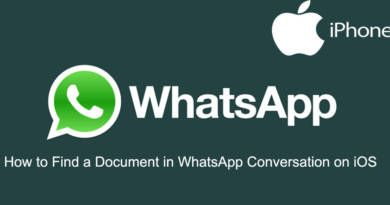 How to Find a Document in WhatsApp Conversation on iOS