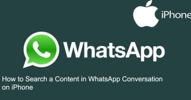 How to Search a Content in WhatsApp Conversation on iPhone