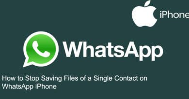 How to Stop Saving Files of a Single Contact on WhatsApp iPhone