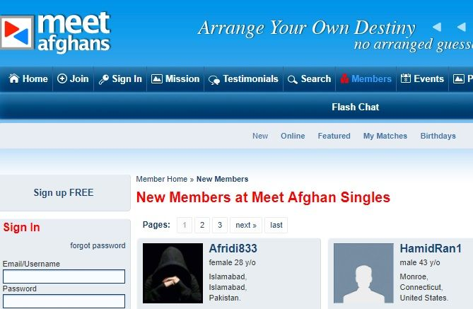 Free afghan dating site