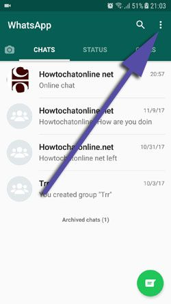 How to Change Phone Number on WhatsApp Android Step 2