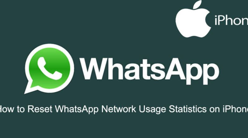 How to Reset WhatsApp Network Usage Statistics on iPhone