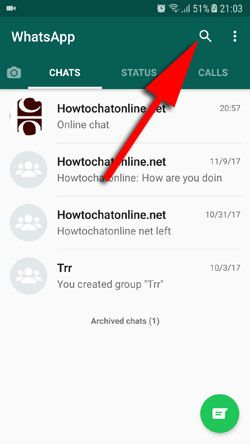 How to Search WhatsApp Conversations on Android Step 2