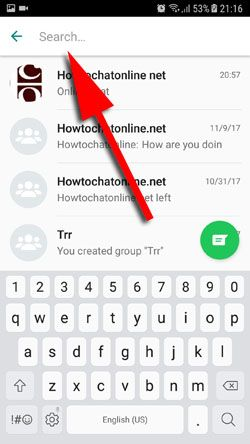 How to Search WhatsApp Conversations on Android Step 3