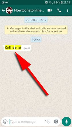 How to Search WhatsApp Conversations on Android Step 5